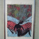 木版画裏彩色―茅ヶ崎市美術館企画個展⑨