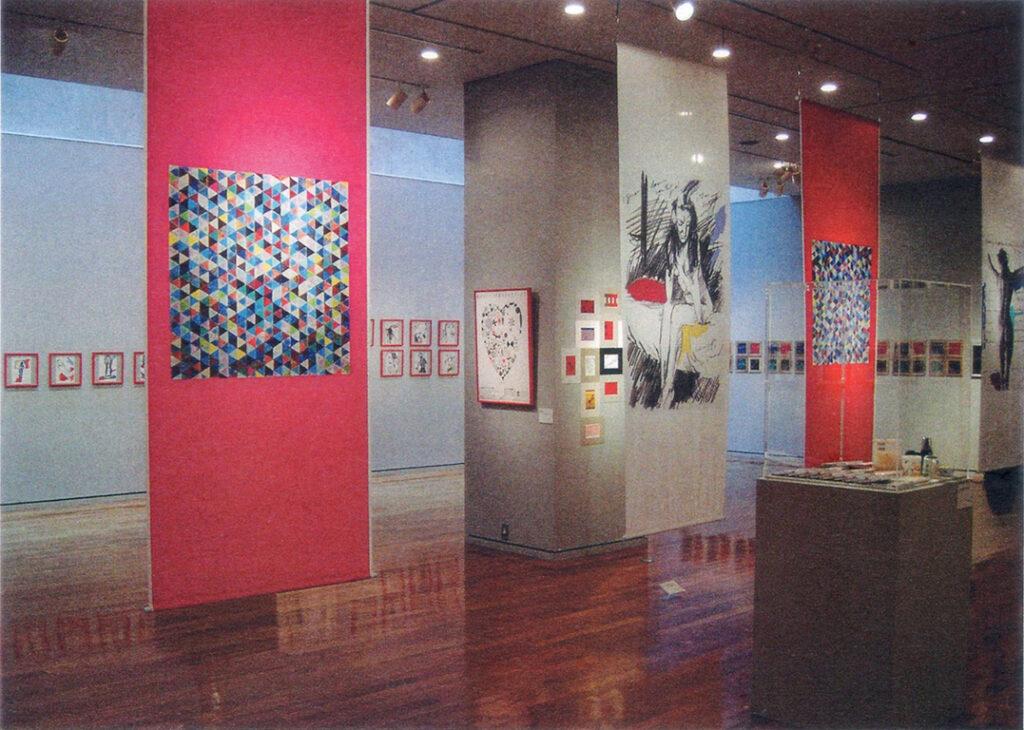 「おーくん・あきら『版』世界」展(2006年 茅ヶ崎美術館)会場内風景