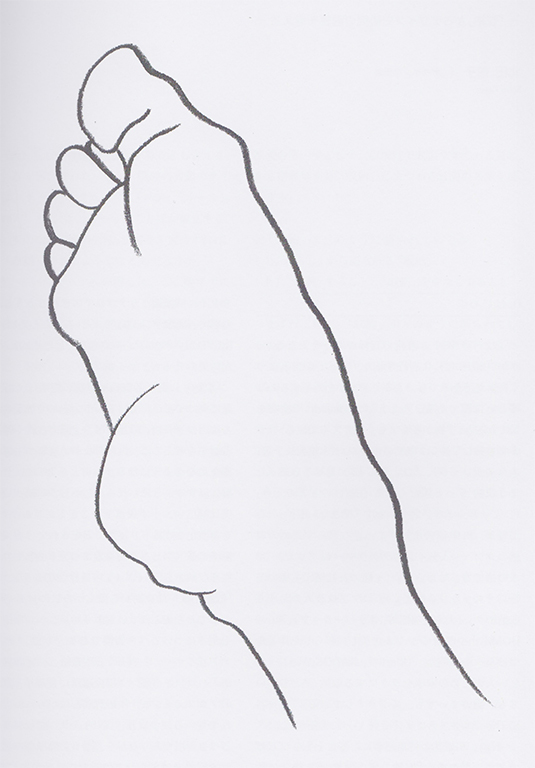 おーくん・あきらの教え子のドローイング作品「足」